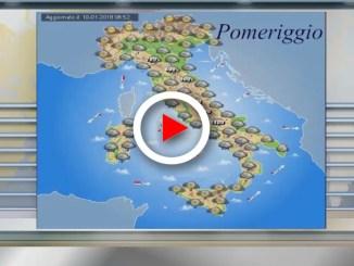 Meteo 11 gennaio 2018: precipitazioni diffuse sull'Italia
