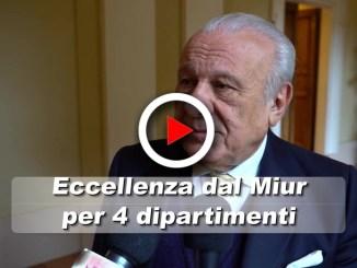 Il Rettore di Perugia, Franco Moriconi, presenta i 4 dipartimenti premiati