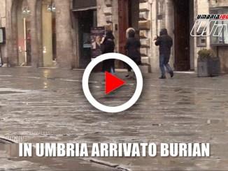 Freddo e gelo in Umbria, arrivato Burian e un po' di neve, il video