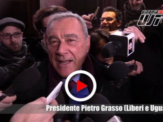 Presidente Pietro Grasso a Perugia, intervista