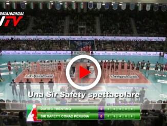Volley, una Sir Safety spettacolare, il video del match contro Trento