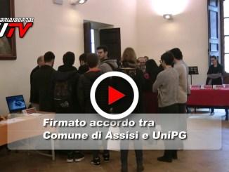 Il video della firma accordo tra Comune di Assisi e Università di Perugia