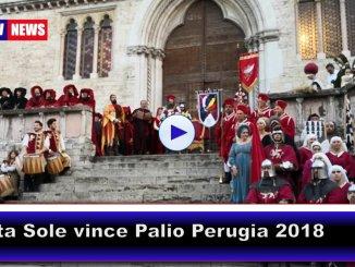 Il magnifico Rione di Porta Sole vince il Palio 2018 di Perugia 1416