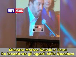 Ministro Salvini e capo polizia Gabrielli incontrano agente Nannini Claudio e questore Terni