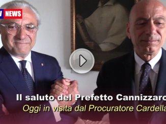 Prefetto Cannizzaro ha salutato Procuratore Generale Cardella