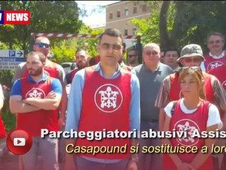 Parcheggiatori abusivi Assisi, CasaPound si sostituisce a loro per un giorno