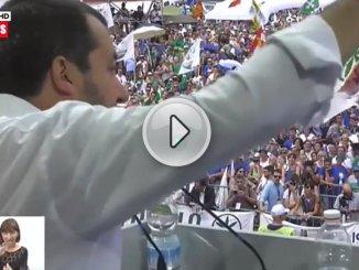 Pontida, Matteo Salvini rinnova i suoi impegni e vuole una Lega europea