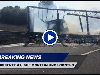 Incidente mortale tra Orvieto e Fabro, scontro tra auto e mezzo pesante, due morti