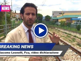 Giacomo Leonelli, video dichiarazione su rilancio Ferrovia Centrale Umbra