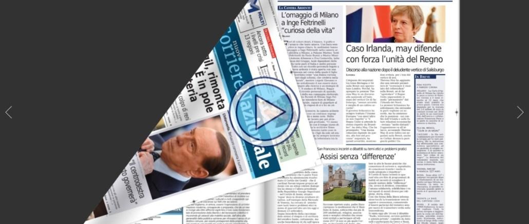 Il Nuovo Corriere Nazionale del 22 settembre 2018 sfoglia le pagine