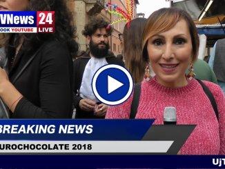 Eurochocolate, l'onda dei golosi nel gran giorno delle sculture di cioccolato