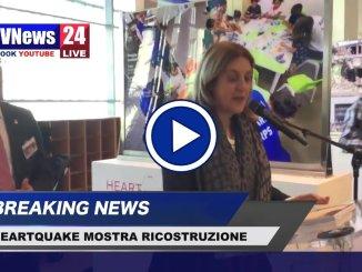 Catiuscia Marini video a Bruxelles inaugurazione della mostra sulla ricostruzione, heartquake