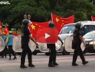 G20, pericolo proteste, video polizia che blinda Buenos Aires