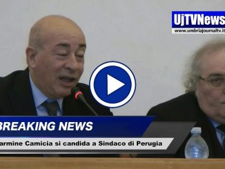 Carmine Camicia candidato a sindaco di Perugia, ecco la sua ricetta, video