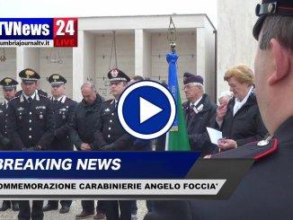 Perugia ricorda il Carabiniere Angelo Foccià, morto in Bosnia, video