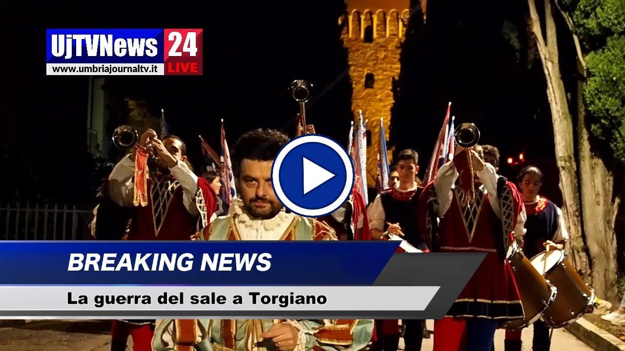 """Rievocazione storica """"La guerra del sale"""" a Torgiano, il video"""