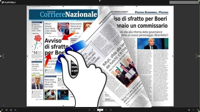 Nuovo corriere nazionale del 20 novembre 2018 anche audio video