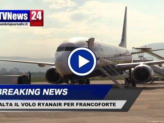 Aeroporto di Perugia, salta il volo Ryanair per Francoforte