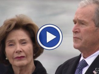Ultimo saluto all'ex presidente Usa H.W. Bush video dei funerali con i grandi della Terra