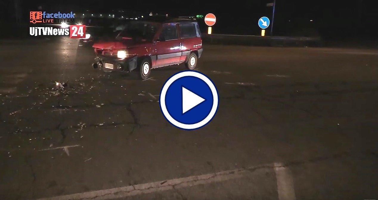 Video dell'incidente stradale a Ospedalicchio di Bastia Umbra, un ferito