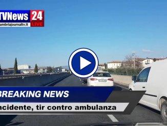 Tir contro un'ambulanza, incidente a Ospedalicchio