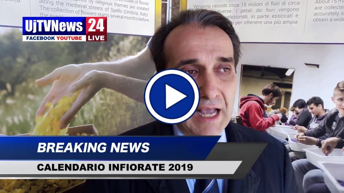 Spello, presentato il calendario Maestri del petalo 2019, il video