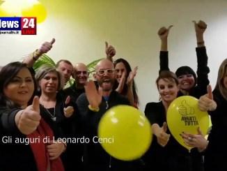 Gli auguri di Leonardo Cenci, il video messaggio di Leo dall'ospedale di Perugia