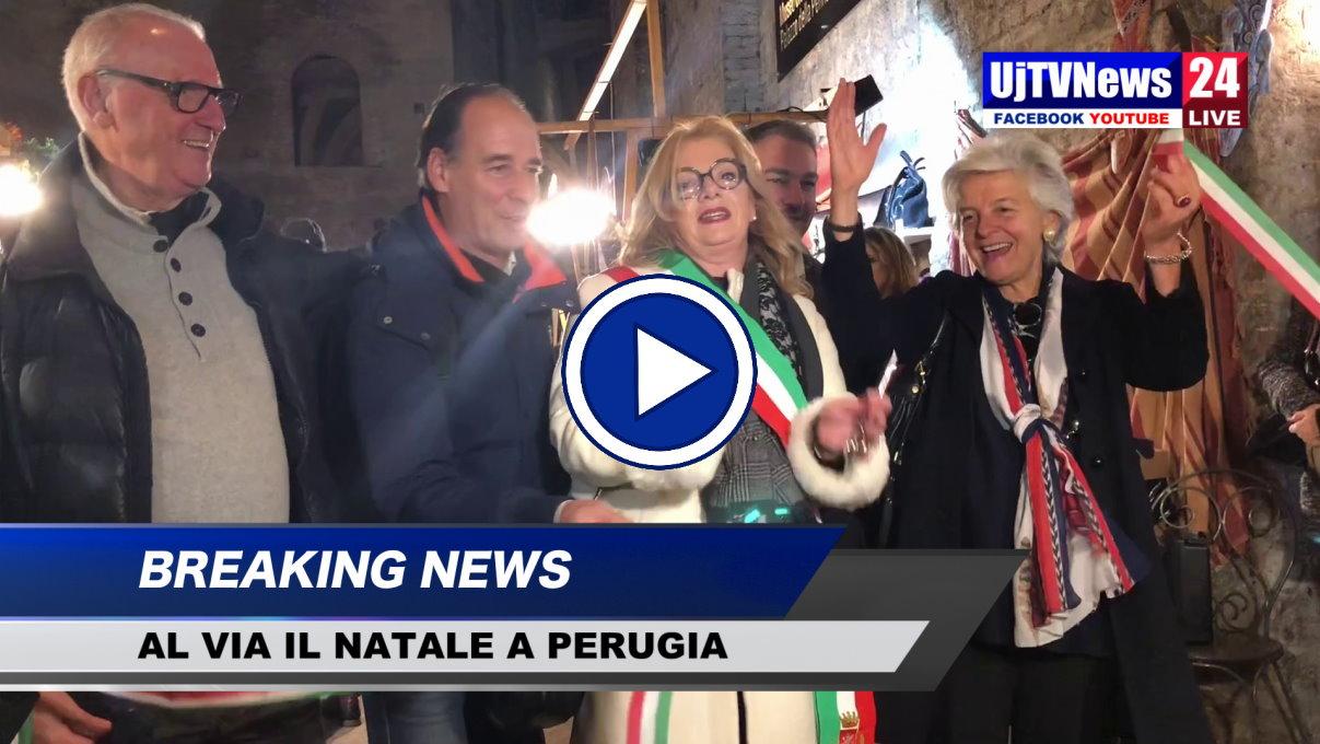 Natale da favola a Perugia una festa per le famiglie ed i bambini, video