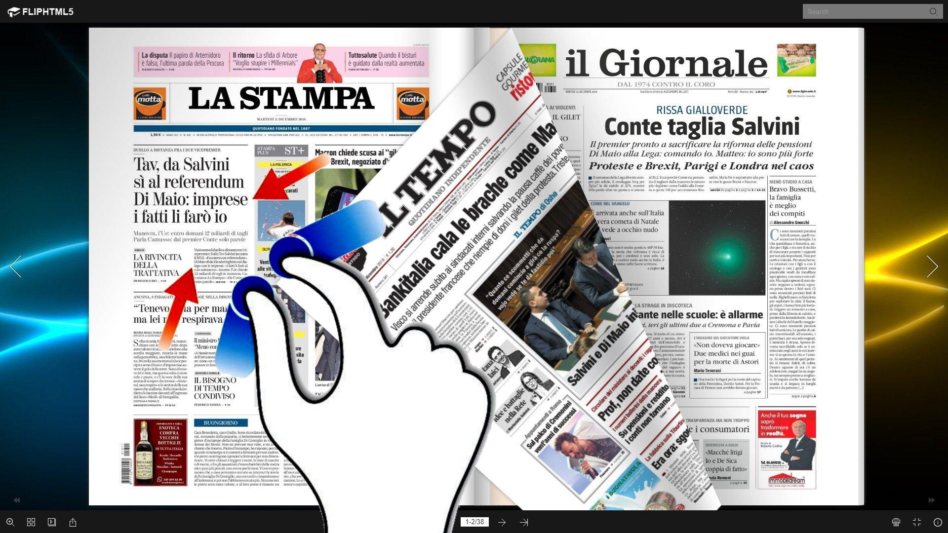 La rassegna stampa dell'Umbria e nazionale video dell'11 di dicembre 2018