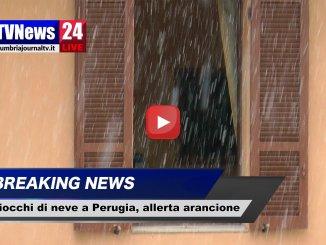 Primi fiocchi di neve a Perugia, cosi come da previsioni meteo