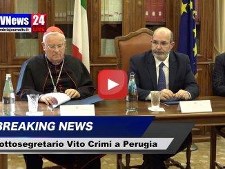 Terremoto e ricostruzione, sottosegretario Vito Crimi a Perugia, video