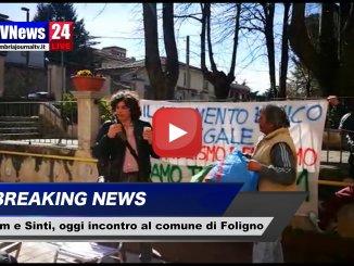 Incontro al comune di Foligno dopo incendio al campo rom di Sant'Eraclio