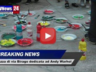 "Piazza di via Birago dedicata ad Andy Warhol e alla ""Pop Art"""