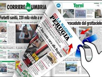 Edicola dell'Umbria nazionale e internazionale 19 marzo 2019
