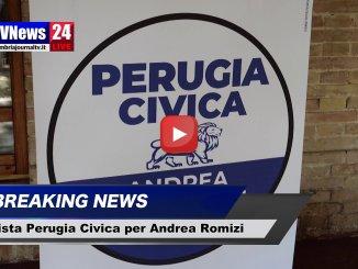 Presentazione della lista Perugia Civica per Andrea Romizi