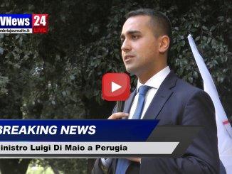 Luigi Di Maio a Perugia, a giorni ddl stop nomine politiche sanità
