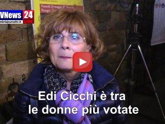 Elezioni Perugia, ex assessore Edi Cicchi tra le donne più votate, intervista