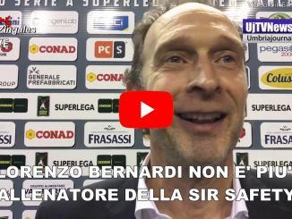 Sir Safety, Lorenzo Bernardi non è più allenatore del Perugia