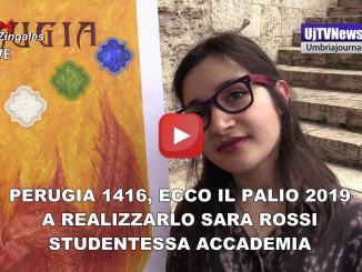 Svelato il Palio d'artista 2019 di Perugia 1416, a realizzarlo Sara Rossi