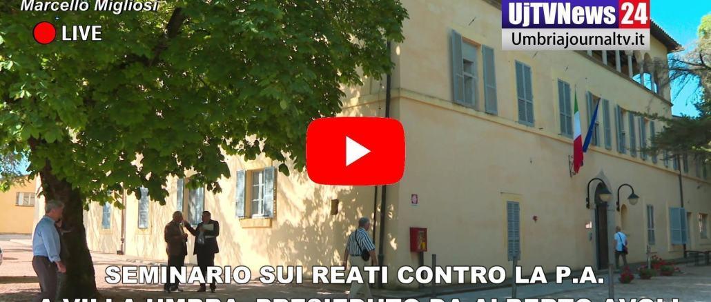 Seminario sui reati contro la Pubblica Amministrazione a Villa umbra