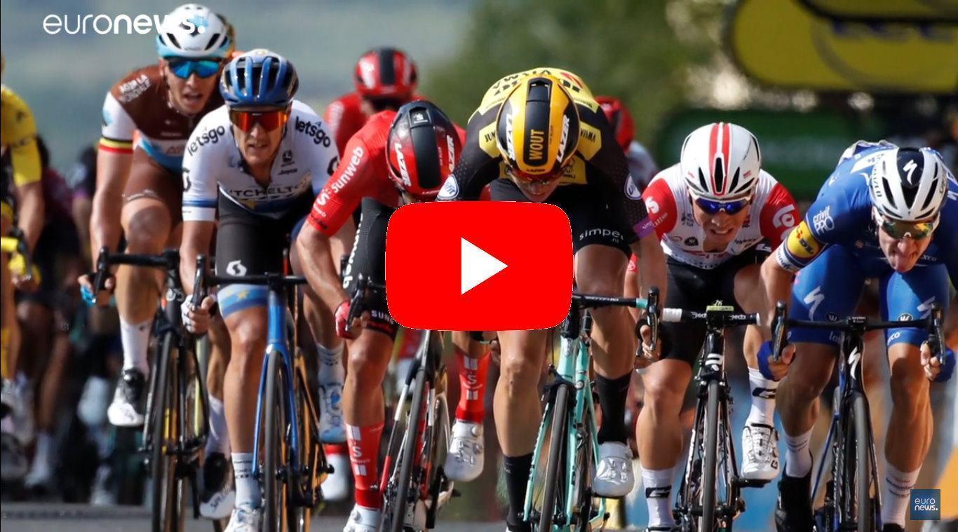 Tour de France, decima tappa: Van Aert beffa Viviani, Alaphilippe tiene