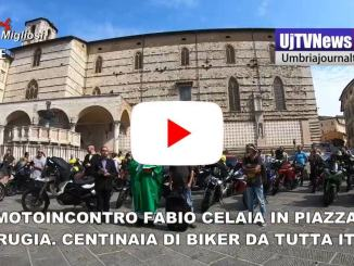 Motoincontro Fabio Celaia in piazza a Perugia Centinaia di biker da tutta Italia