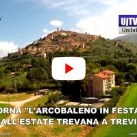 L'arcobaleno in festa a Trevi appuntamenti frequentati dell'estate Trevana video Trevi By Drone
