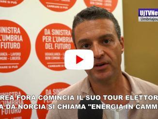 Energia in cammino tour si chiama così il viaggio elettorale di Andrea Fora