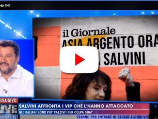 Salvini ha affrontato i Vip che lo hanno attaccato a LIVE #noneladurso
