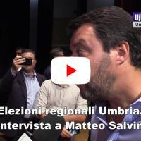 Elezioni Umbria, Matteo Salvini a Gubbio, intervista