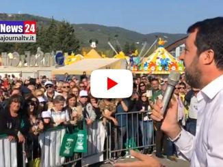 LIVE 🔴 Matteo Salvini oggi di nuovo in Umbria, video da Piani di Massiano