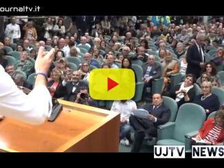 Salvini, Meloni e Berlusconialla presentazione del manifesto Valoriale Umbria
