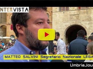 Elezioni Umbria, l'intervista con Matteo Salvini a Todi