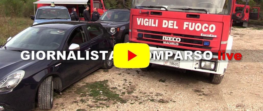 Giornalista scomparso a Foligno, grande spiegamento di forze